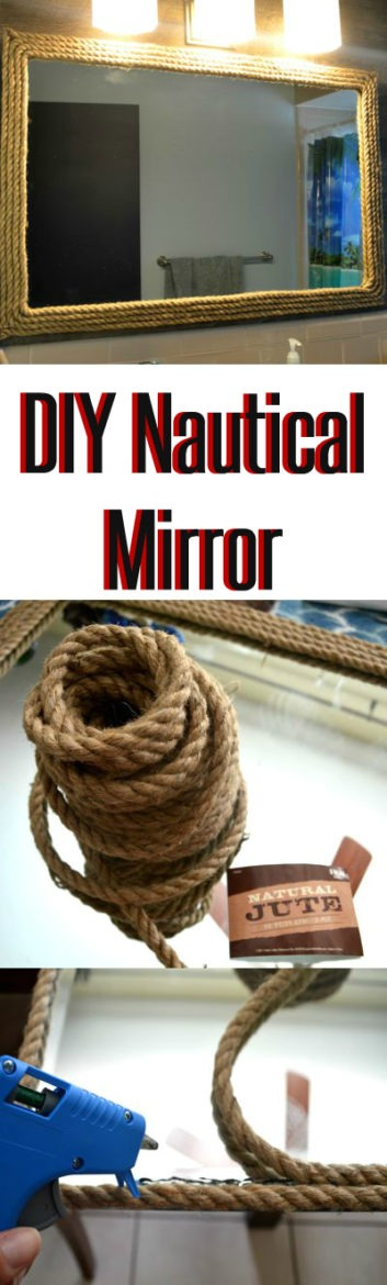 DIY Nautical Rope Mirror Decor TheMRSingLink