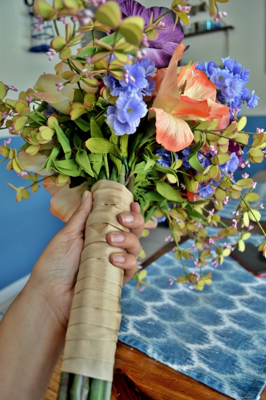 DIY Flower Wedding Bouquet | How To Create Your Own Wedding Bouquet | Fake Flower Wedding Bouquet | Unique Wedding Bouquet | DIY Wedding | Budget Wedding | Make Your Own Wedding Flower Bouquet Under $200 | theMRSingLink