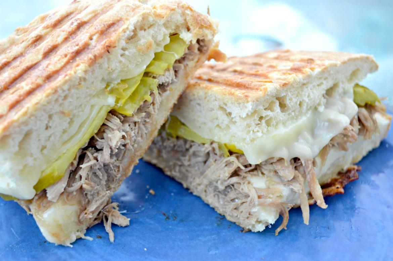 Crock Pot Pulled Pork Cuban Panini | Panini Recipes | Cuban Sandwich Recipes | Sandwich Recipes | Easy Leftover Recipes | Crock Pot Recipes | Pulled Pork Recipes | theMRSingLink