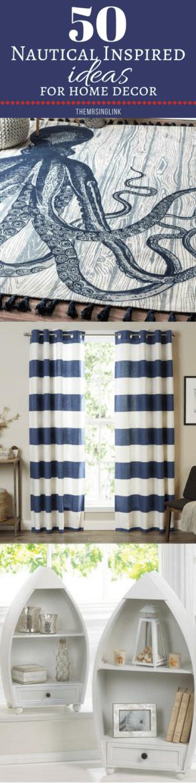 50 Nautical Inspired Ideas For Home Decor | Inexpensive Nautical Decor | DIY Home Decor | theMRSingLink