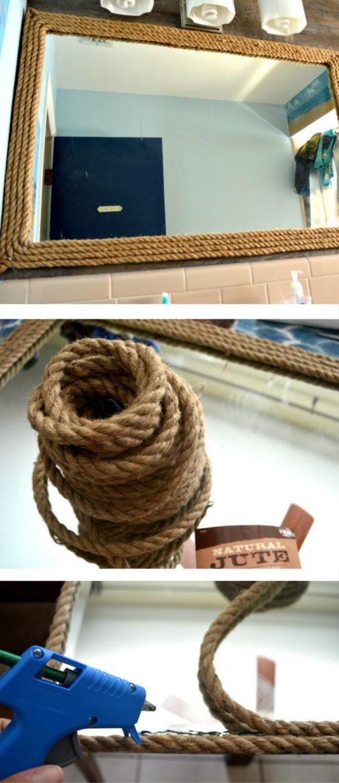 DIY Nautical Rope Mirror | DIY crafts and home decor | DIY mirror decor | theMRSingLink
