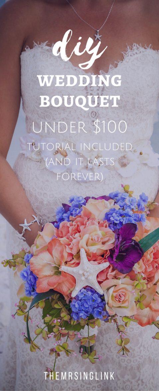 DIY Artificial Wedding Bouquet Under $100 | theMRSingLink