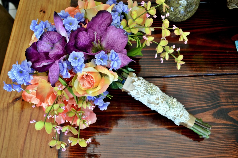 DIY Artificial Wedding Bouquet Under $100 | theMRSingLink