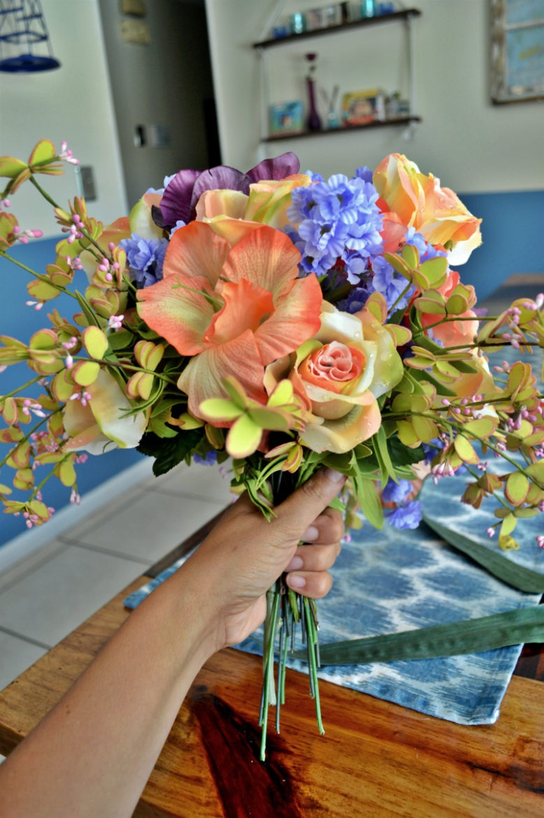 Diy artificial wedding bouquet under 100 themrsinglink diy flower wedding bouquet how to create your own wedding bouquet fake flower wedding izmirmasajfo