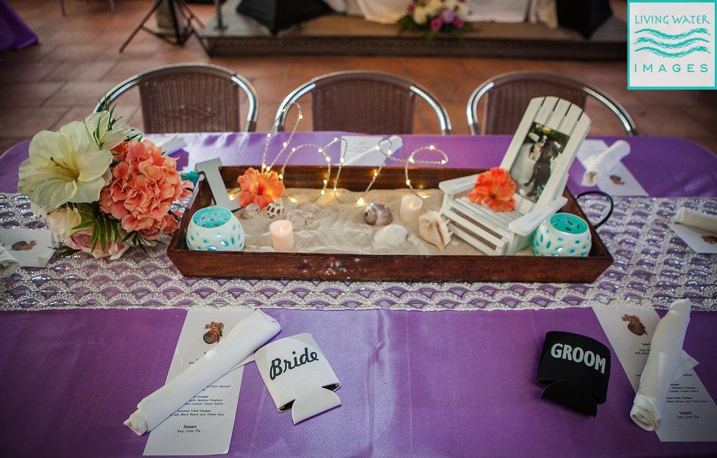 Diy Beach Wedding Centerpieces And Decor A Chic Mermaid Wedding