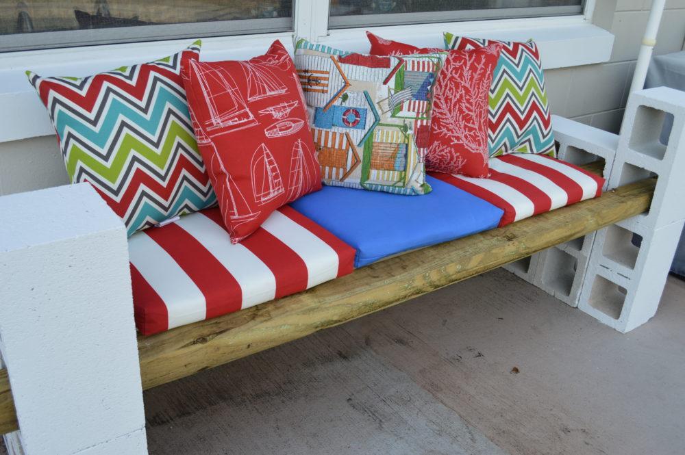 Diy Cinder Block Outdoor Furniture Intended Simple Diy Cinder Block Outdoor Bench Under 100 Projects Home Decor Themrsinglink