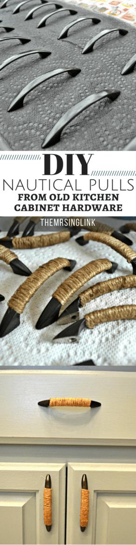 DIY Upgrade Old Kitchen Hardware Into Nautical Pulls | DIY Kitchen Hardware | Kitchen Cabinet Pulls | DIY Kitchen | DIY Home Improvements | theMRSingLink