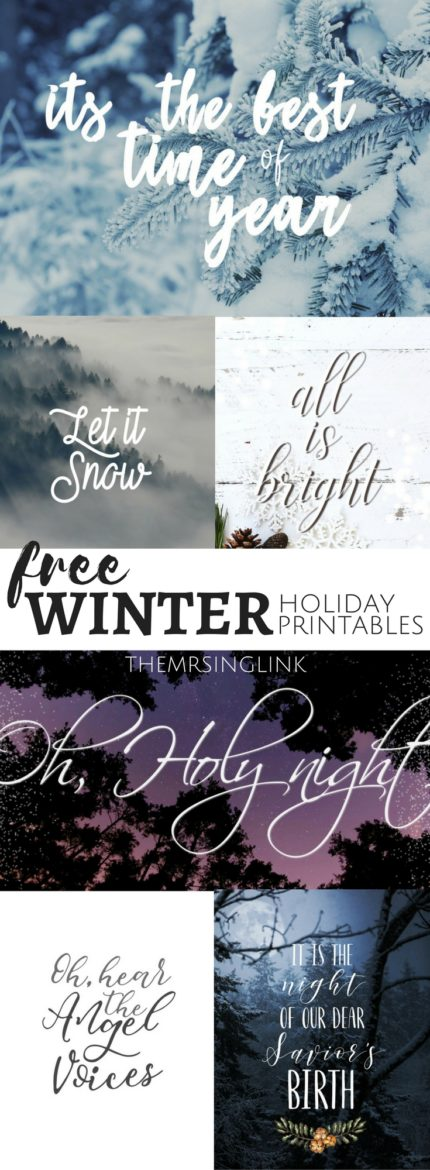 Affordable Festive Christmas Decor Under $50 + FREE Holiday Printable Decor | Inexpensive Christmas Decorations | Holiday Decor and Wall Art | Free DIY Holiday Christmas Decor | Wintry Home Decor Under $50 | theMRSingLink