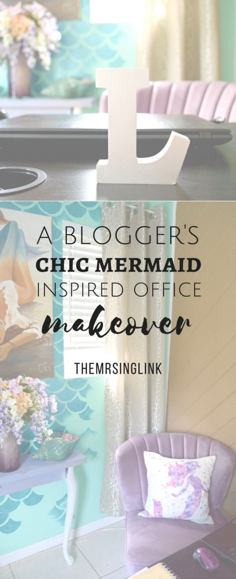 A Blogger's Chic Mermaid Inspired Office Makeover | Chic Mermaid Decor | Chic Beach Office Makeover | Office Ideas | Office Decor Ideas | Beach Decor Ideas | theMRSingLink