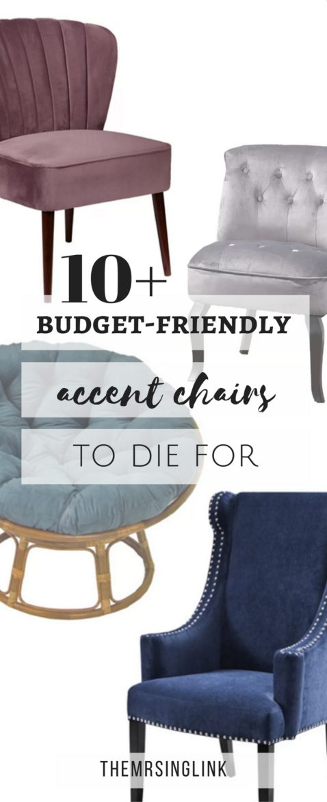Budget-Friendly Accent Chairs To Die For | Accent Chairs | Inexpensive Home Decor | Budget-friendly Home Decor | Furniture On A Budget | Best Furniture Finds | Accent Chairs For The Home | #homedecor #accentchairs | theMRSingLink