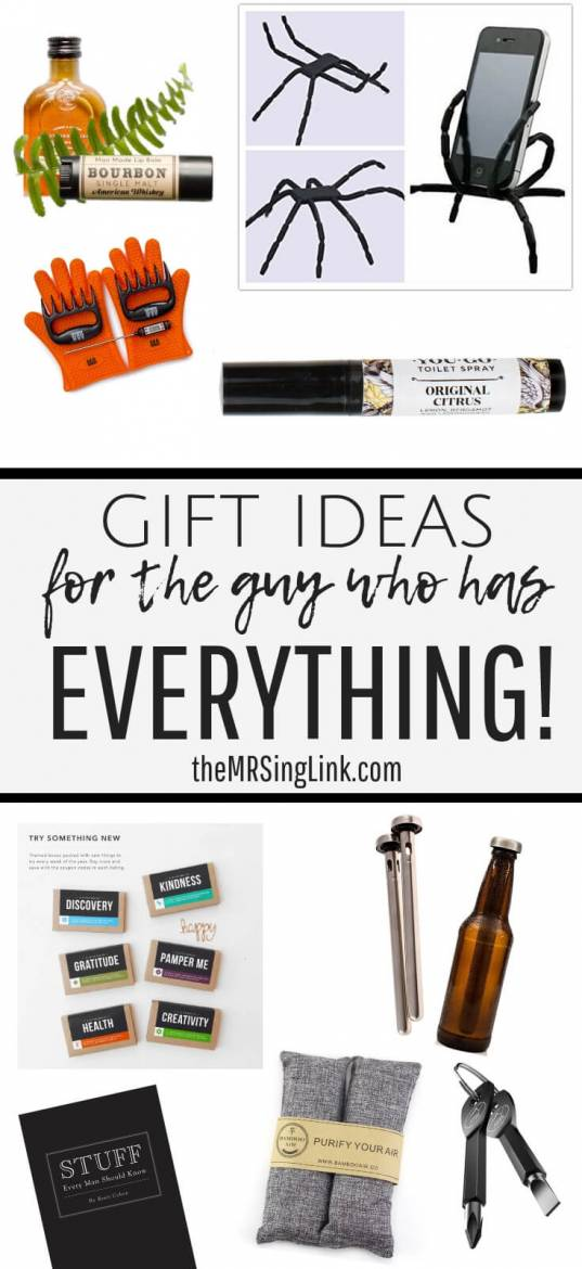 2018 gift guide [gift ideas for the guy who has everything]